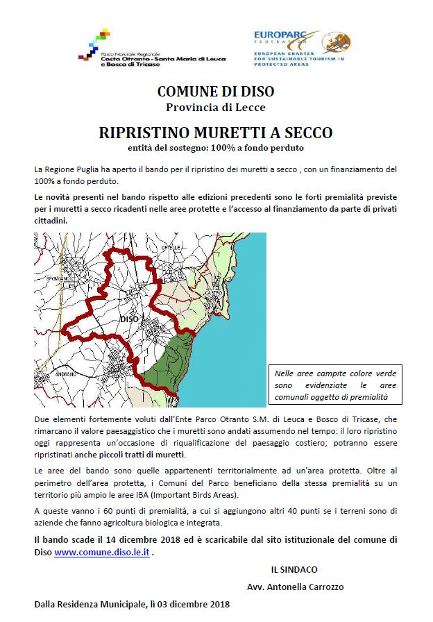 AVVISO: Bando Regione Puglia