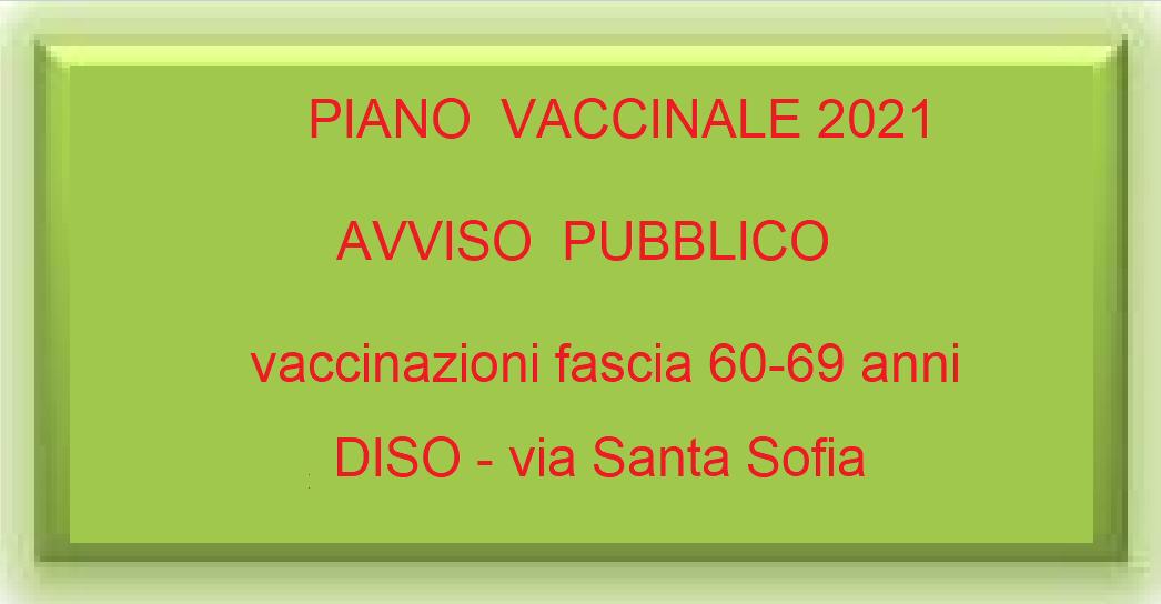 covid - piano vaccinale - fascia 60-69 anni