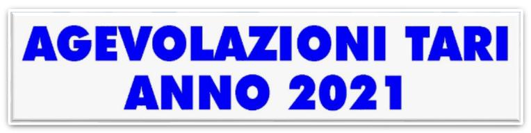 TARI 2021 - UTENZE DOMESTICHE E NON DOMESTICHE